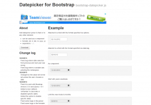 Datepicker for Bootstrap  from Twitter