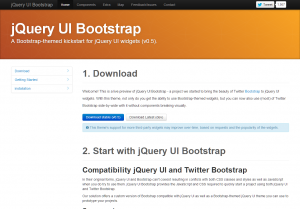 Download jQuery UI Bootstrap