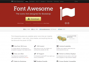 Font Awesome  the iconic font designed for Bootstrap