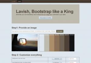 Lavish   Generate your own Bootstrap color scheme