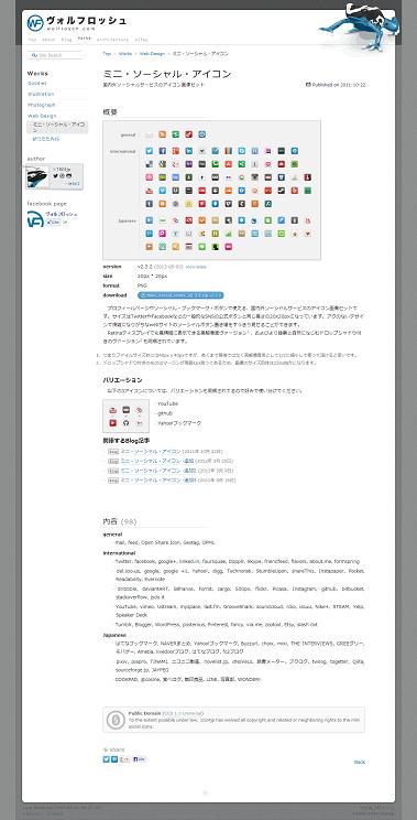 ミニ・・ーシャル・アイコン  Web Design  Works   ヴォルフロッシュ
